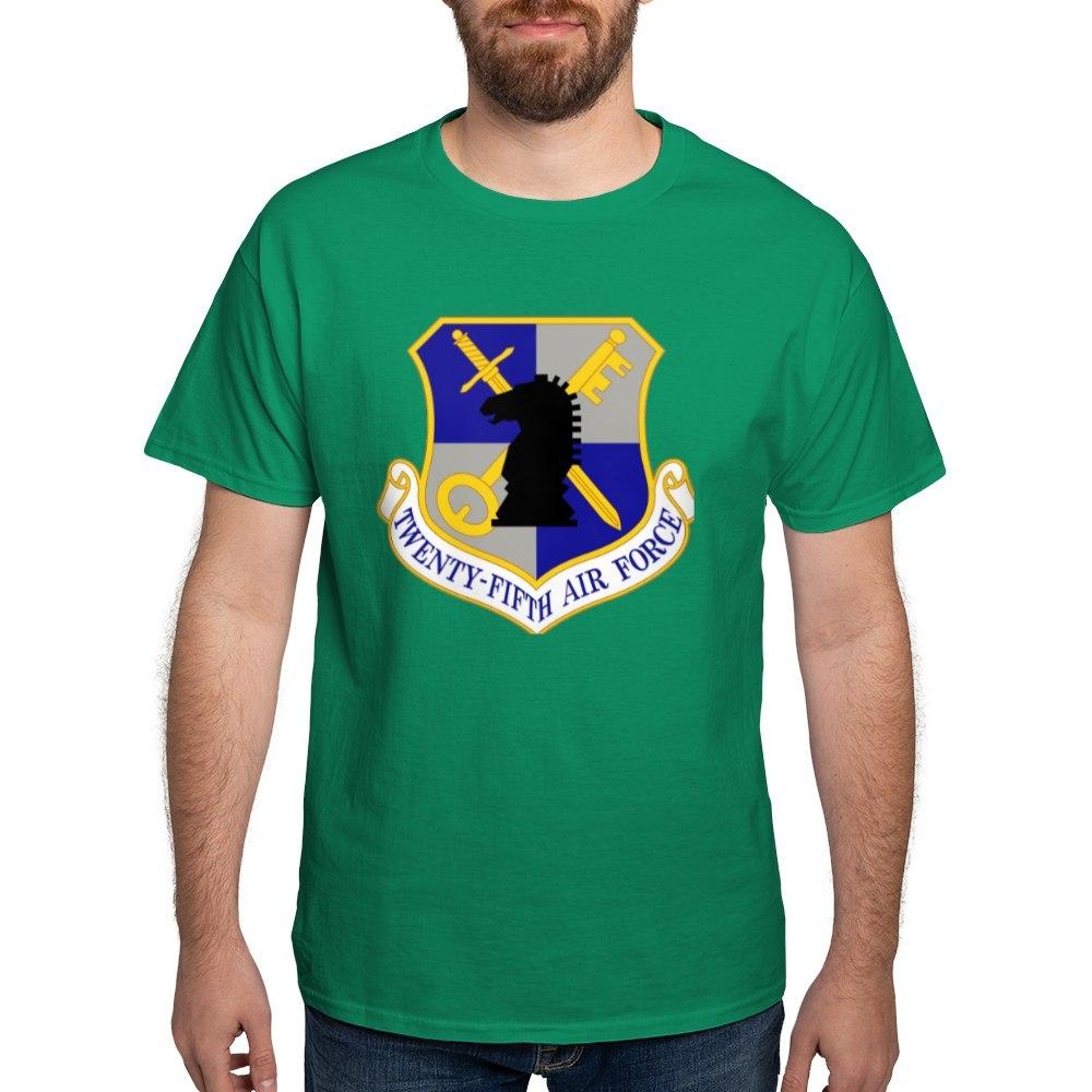 CafePress-USAF-Twenty-Fifth-Air-Force-Dark-T-Shirt-Cotton-T-Shirt-106123181 thumbnail 30