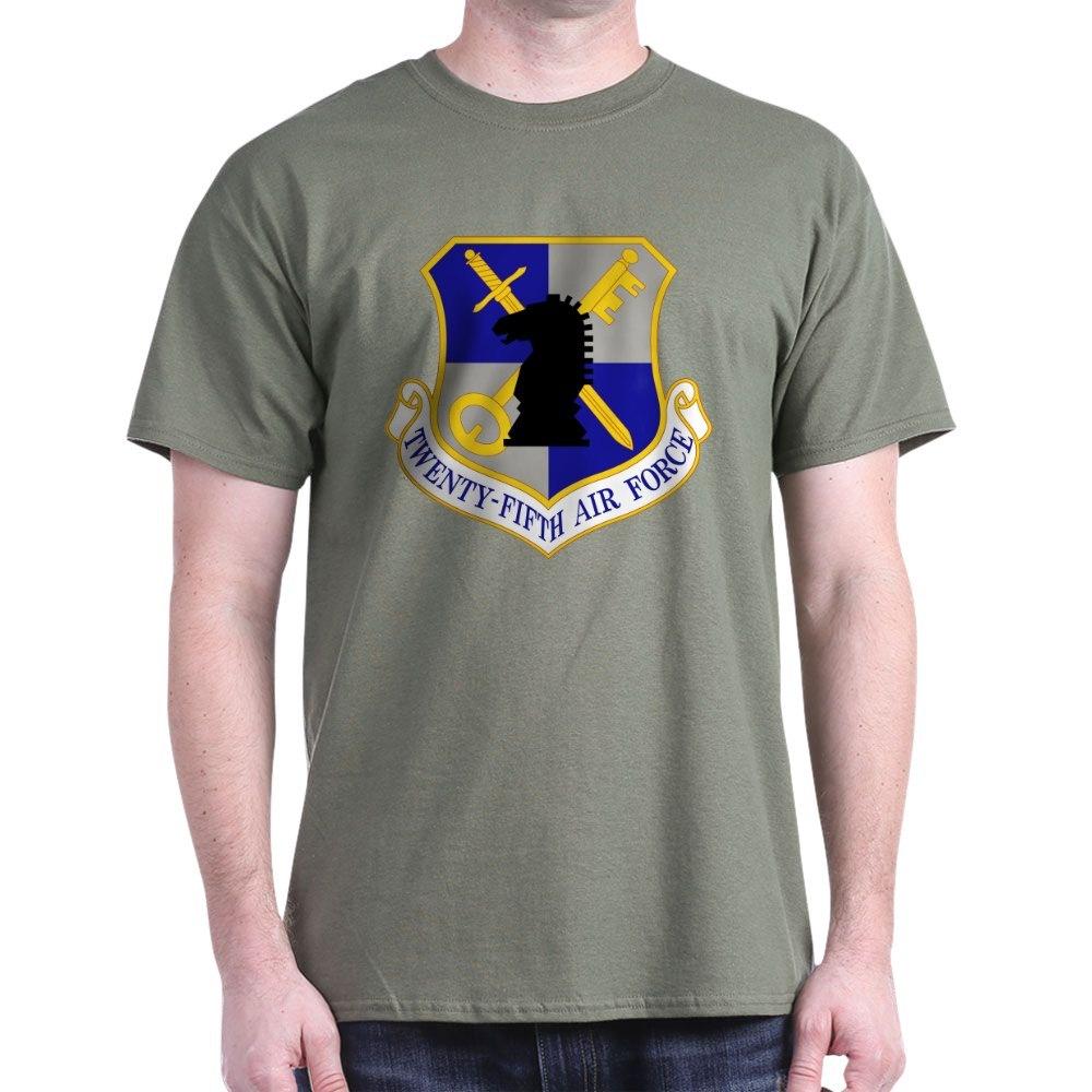 CafePress-USAF-Twenty-Fifth-Air-Force-Dark-T-Shirt-Cotton-T-Shirt-106123181 thumbnail 33