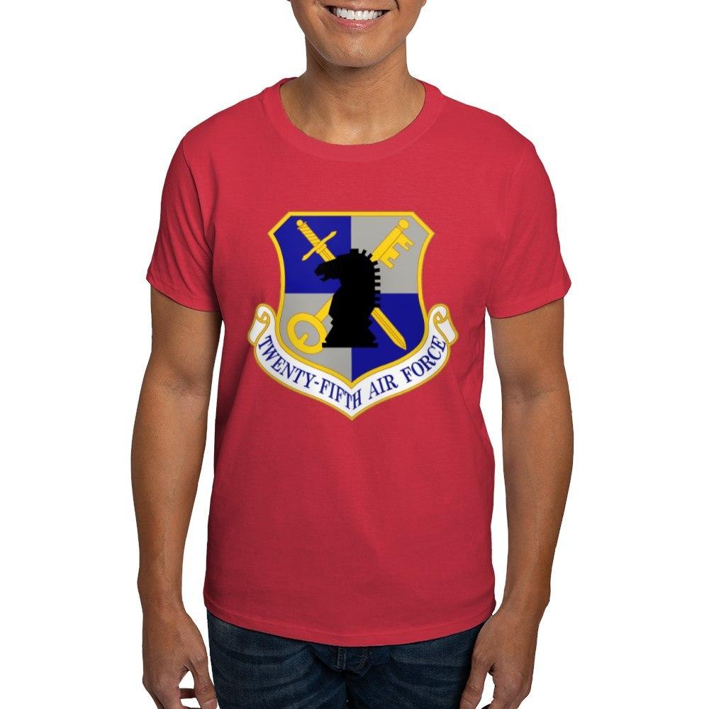 CafePress-USAF-Twenty-Fifth-Air-Force-Dark-T-Shirt-Cotton-T-Shirt-106123181 thumbnail 48