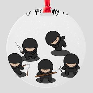 Strictly Ninjas Black Round Ornament