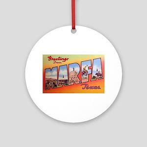 Marfa Texas Greetings Ornament (Round)