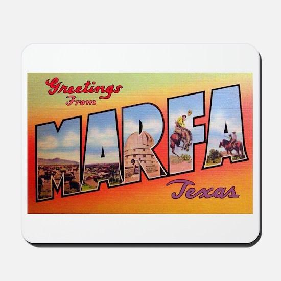 Marfa Texas Greetings Mousepad