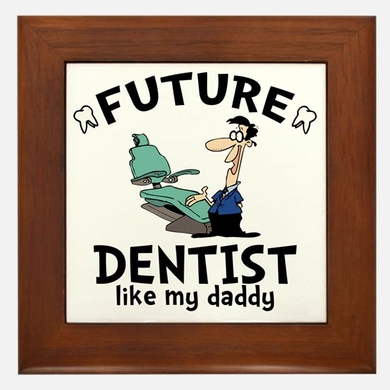 Dentist Dad Framed Tile