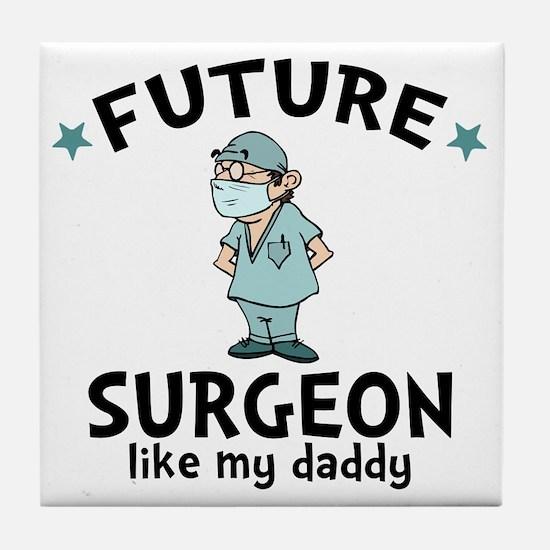 Surgeon Dad Tile Coaster