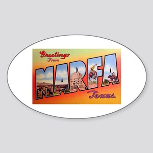 Marfa Texas Greetings Oval Sticker
