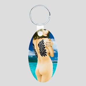 Aphrodite Aluminum Oval Keychain
