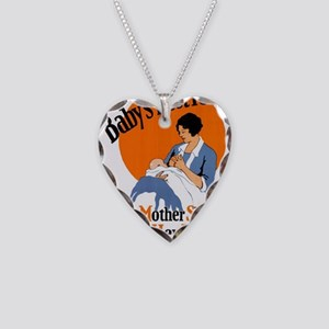 1930us ama poster Necklace Heart Charm