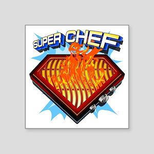 """super chef Square Sticker 3"""" x 3"""""""