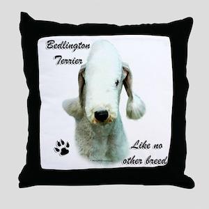 Bedlington Breed Throw Pillow