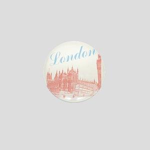London_10x10_apparel_BigBen_LightBlueR Mini Button