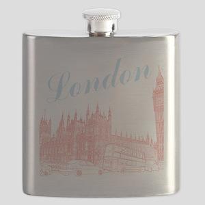 London_10x10_apparel_BigBen_LightBlueRed Flask