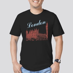 London_10x10_apparel_B Men's Fitted T-Shirt (dark)