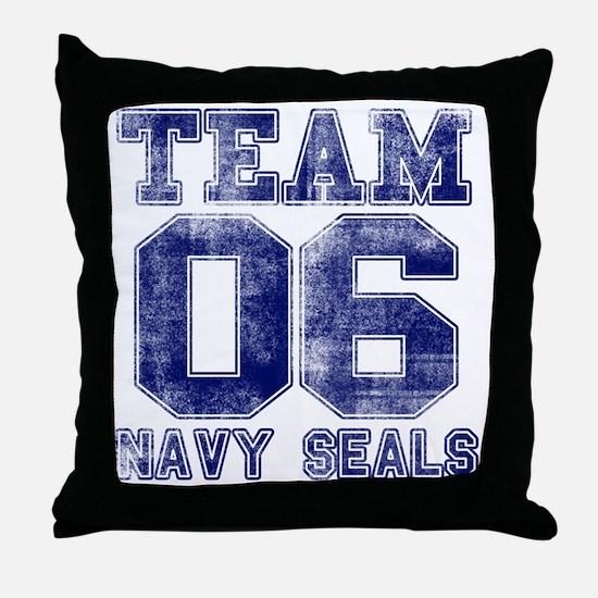 team6navy Throw Pillow