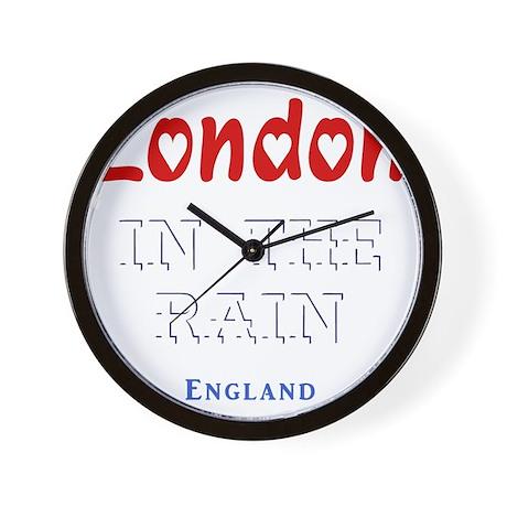 London_10x10_apparel_Love_InTheRain_Lig Wall Clock