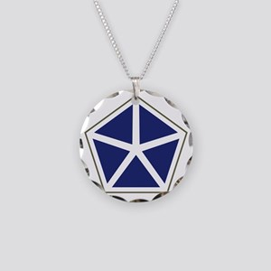 V Corps Necklace Circle Charm