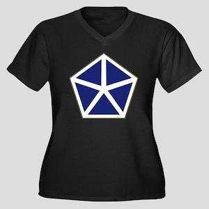 V Corps Women's Plus Size Dark V-Neck T-Shirt