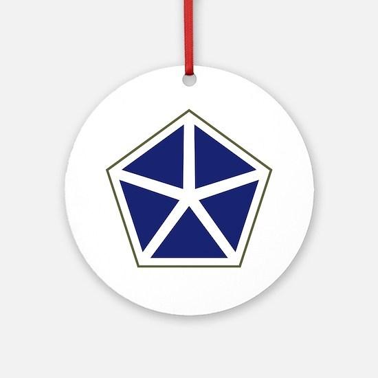V Corps Round Ornament