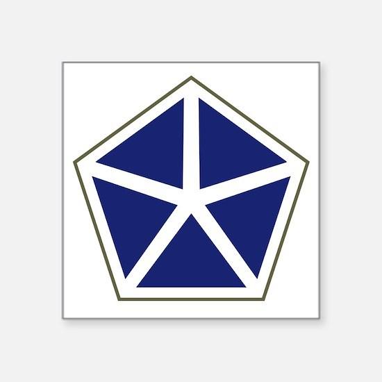 "V Corps Square Sticker 3"" x 3"""
