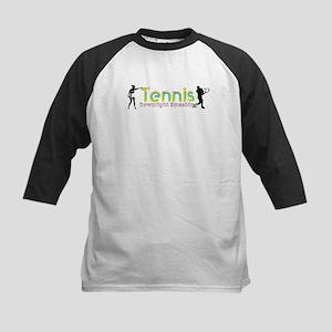 Tennis Slogan Kids Baseball Jersey