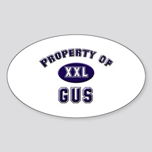 Property of gus Oval Sticker