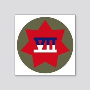 "VII Corps Square Sticker 3"" x 3"""