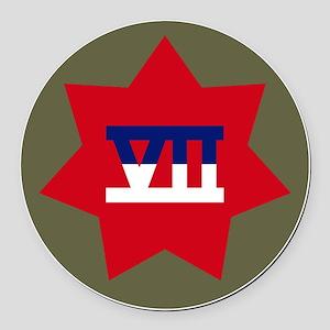 VII Corps Round Car Magnet