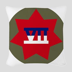 VII Corps Woven Throw Pillow