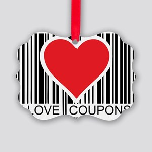 I-Love-Coupons Picture Ornament