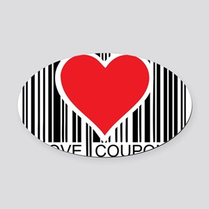 I-Love-Coupons Oval Car Magnet