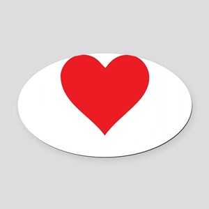I-Love-Coupons-blk Oval Car Magnet