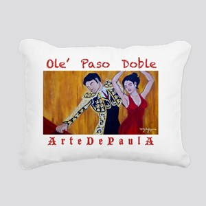 Paso Doble Rectangular Canvas Pillow