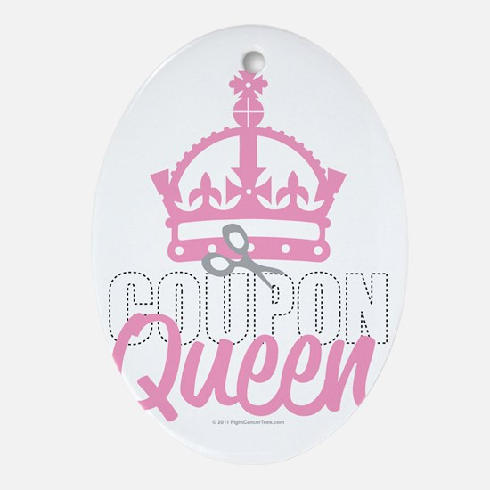 Coupon-Queen Oval Ornament