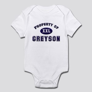 Property of greyson Infant Bodysuit