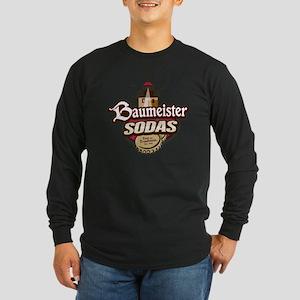 Baumeister Sodas logo Long Sleeve Dark T-Shirt