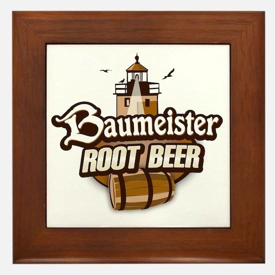 Root Beer logo Framed Tile