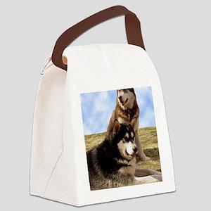 MalamuteGreeting1 Canvas Lunch Bag