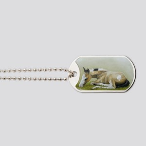 buckskin paint foal Dog Tags