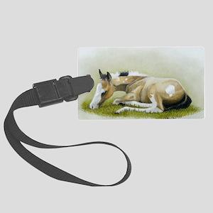 buckskin paint foal Large Luggage Tag