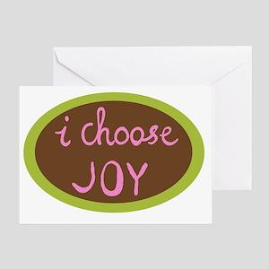 I Choose Joy - Women Greeting Card
