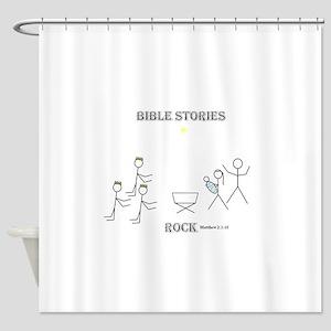 Jesus is Born Shower Curtain