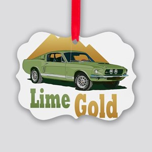 LimeGold-10 Picture Ornament