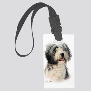 Bearded Collie Large Luggage Tag