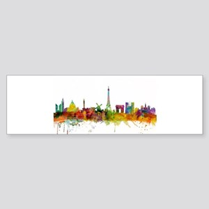 Paris France Skyline Bumper Sticker