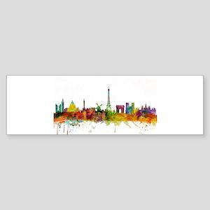 Paris France Skyline Bumper Sticker