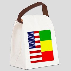 02-clock flag copy Canvas Lunch Bag
