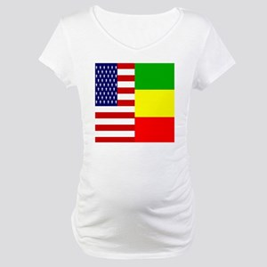 02-clock flag copy Maternity T-Shirt