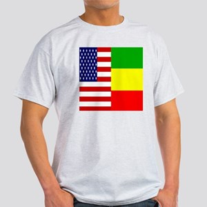 02-clock flag copy Light T-Shirt