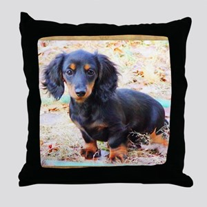 Puppy Love Doxie Throw Pillow