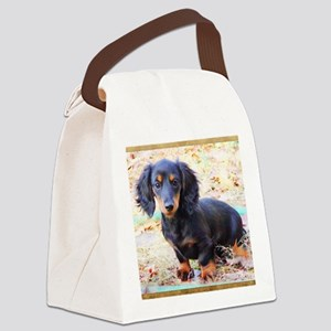 Puppy Love Doxie Canvas Lunch Bag