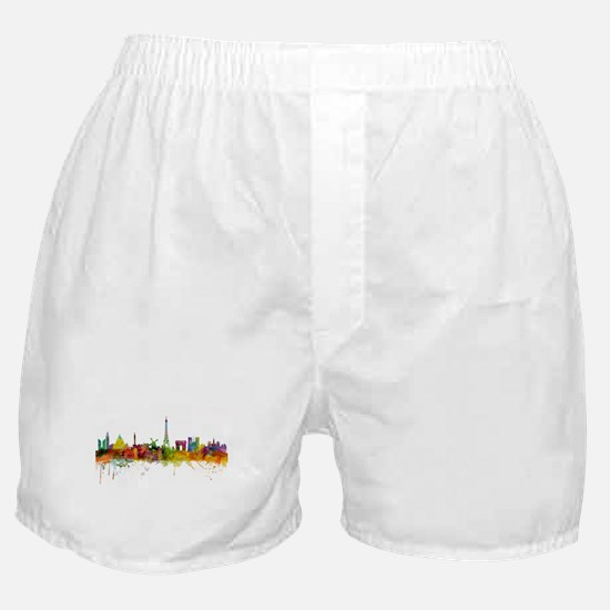 Paris France Skyline Boxer Shorts